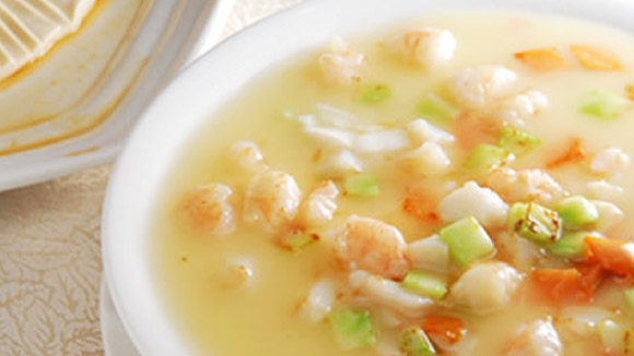 Chinese Soup with Juicy Shrimp
