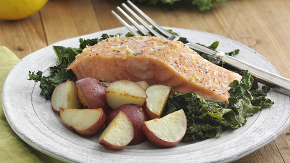 Salmon with New Potatoes