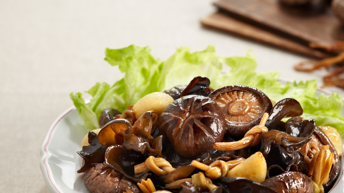 BRAISED MUSHROOM WITH GOLDEN LILY BUD