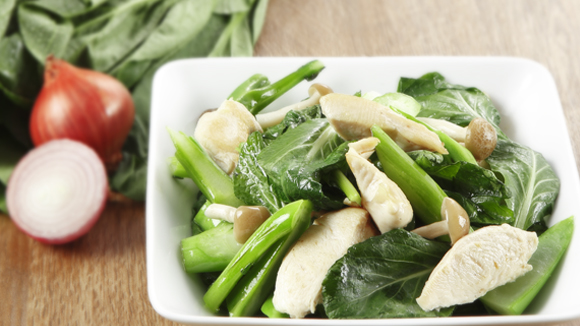 Stir Fried Cai Xin With Chicken