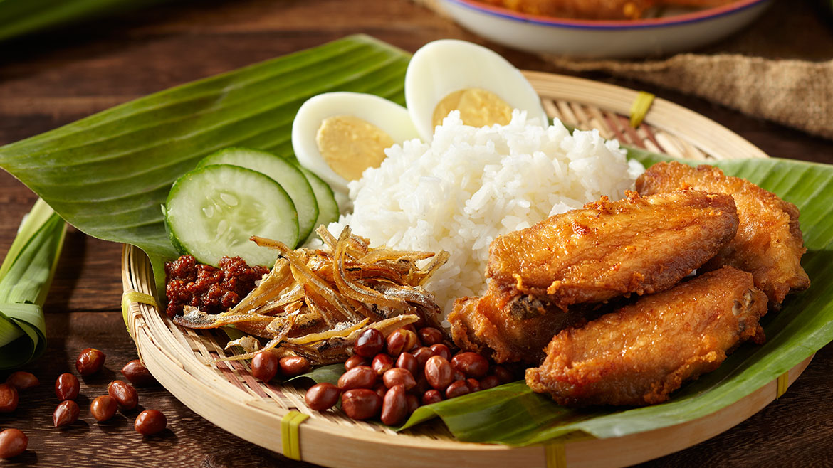 Nasi Lemak & Haochi Fried Chicken Wings