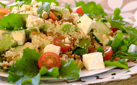 Summer Avo, Feta and Cous Cous Salad