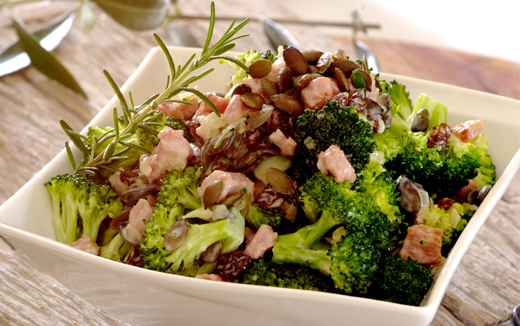 Broccoli, Bacon and Raisin Salad
