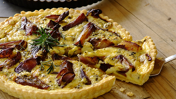 Caramelised Onion and Blue Cheese Quiche