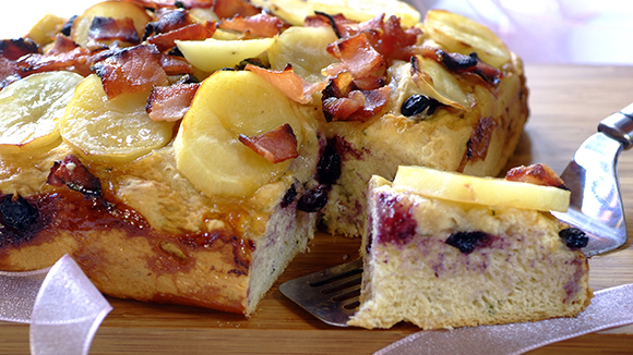 Potato, Bacon and Blueberry Bread