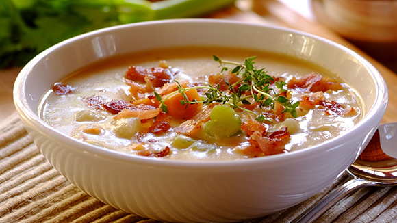 Bacon, Cheddar and Mustard Chowder
