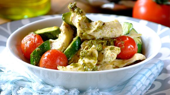 Home Recipes Baked Pesto Chicken