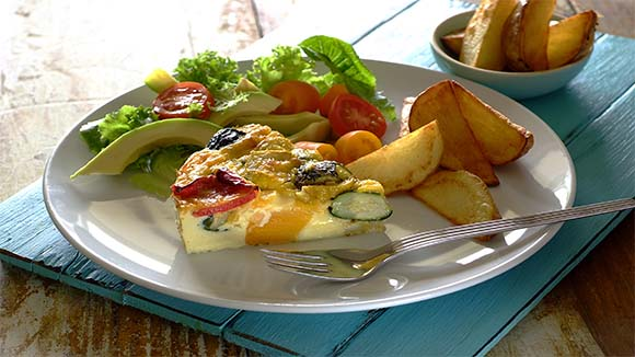 Baked Vegetable and Cheese Frittata