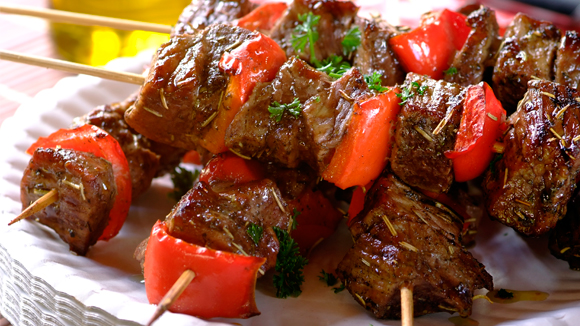 Beef and Red Pepper Kebabs