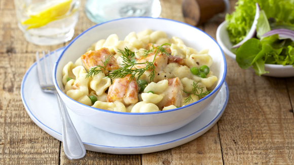Creamy Haddock Pasta with Mascarpone and Peas