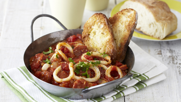 Calamari and Chorizo Casserole