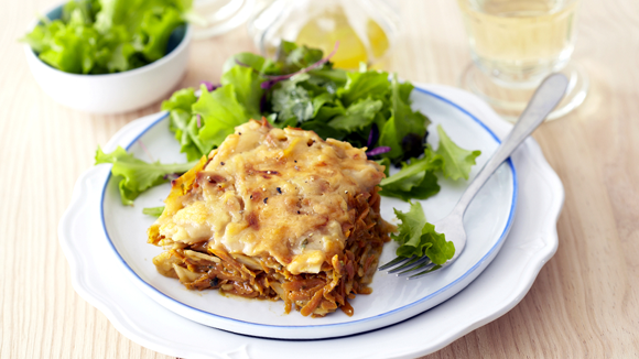 Carrot and Pesto Lasagne