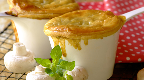Cheddar, Mushroom and Black Pepper Pies