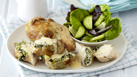 Chicken Breasts Stuffed with Ricotta and Spinach