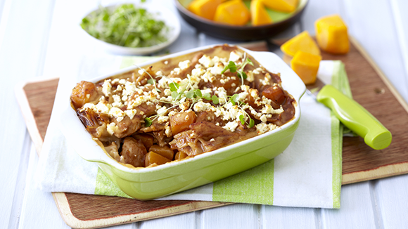 Chicken, Butternut and Feta Lasagne Bake