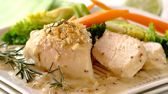 Chicken Fillets with a Rosemary Crumb Topping