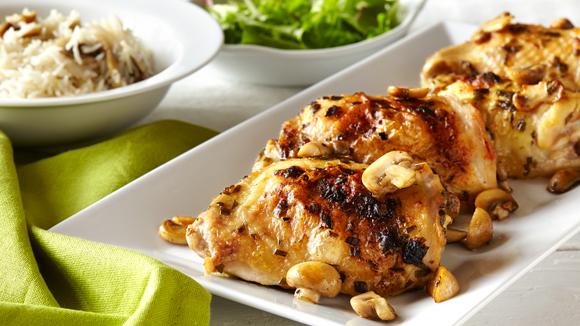 Roast chicken thighs