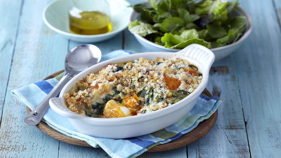 Creamy Haddock and Spinach Bake