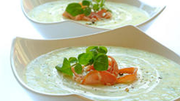 Creamy Watercress and Bacon Soup