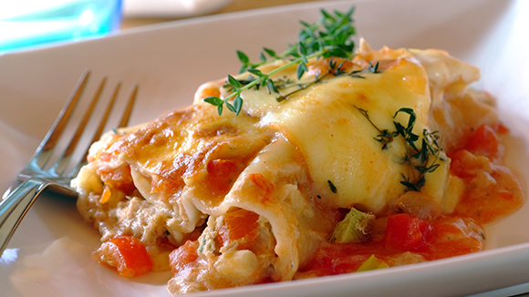 Creamy Tuna Cannelloni with Mozzarella