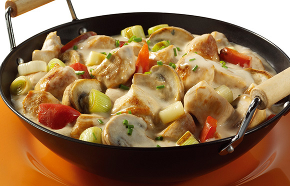 Creamy Chicken with Spring Vegetables