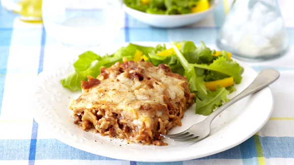 Decadent Lasagne with Bacon and  Parmesan
