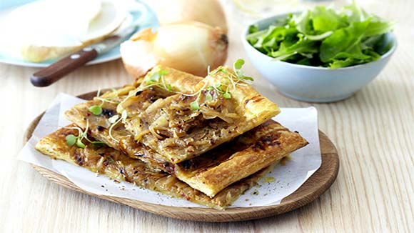 Easy Roast Onion Tart