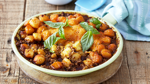 Gnocchi with Cheesy Mince Bolognaise