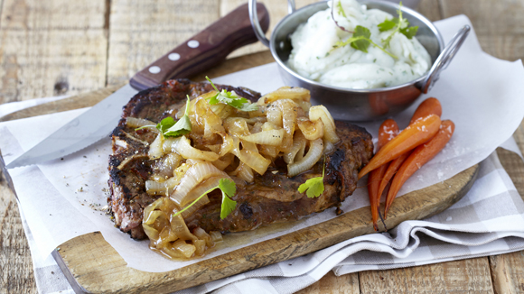 Grilled T-Bone Steaks with Garlic and Ginger