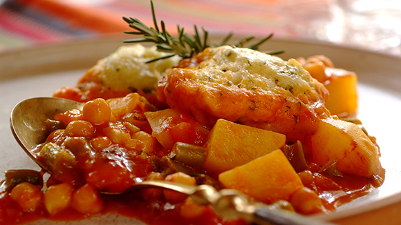 Hearty Vegetable Stew with Parmesan Dumplings