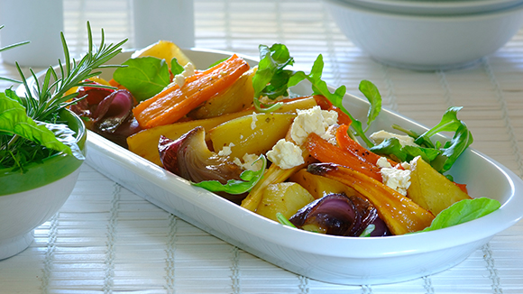 Honey Roasted Root Vegetable Salad