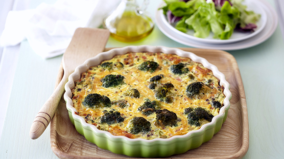 Lentil, Broccoli and Cheese Quiche