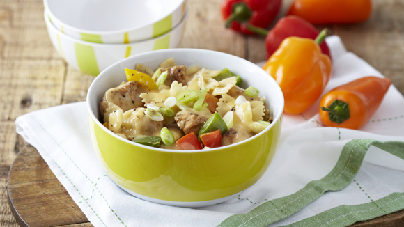 Mexican Chicken Pasta with Peppers