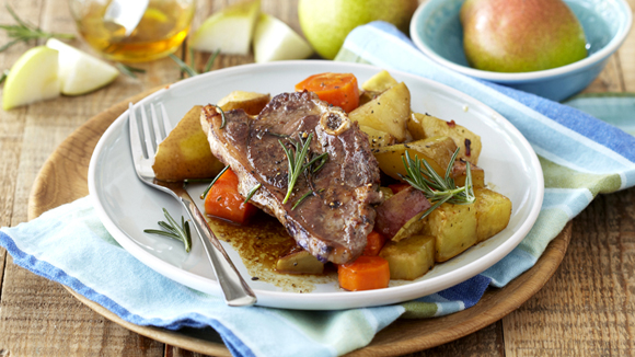 One-Pot Lamb, Vegetable and Pear Roast