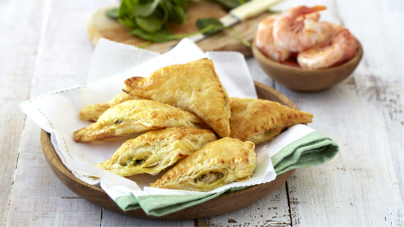 Prawn and Crab Puff Pastry Parcels