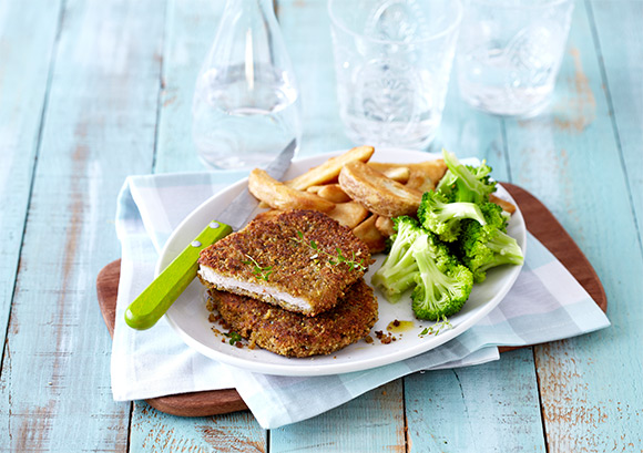Pork Schnitzels with a Crunchy Pistachio Crust