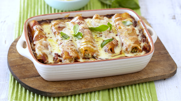 Ricotta-Stuffed Cannelloni with Baby Marrows