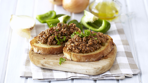 Savoury Mince on Buttered Toast