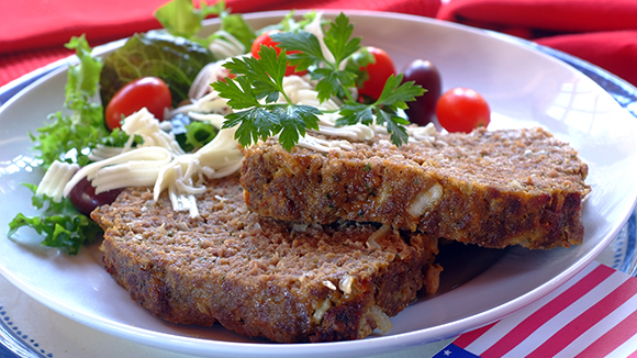 Sour Cream Meatloaf with Parmesan