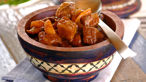 Spicy Beef Tagine with Apricots