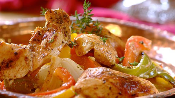 Spicy Chicken and Pepper Casserole