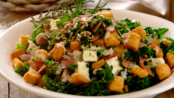 Home Recipes Spinach, Bacon and Feta Salad