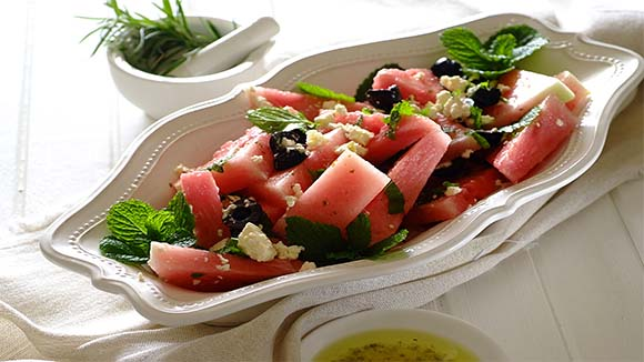 Summer Watermelon, Mint and Feta Salad