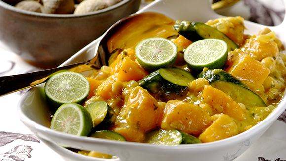 Thai Butternut and Chickpea Curry