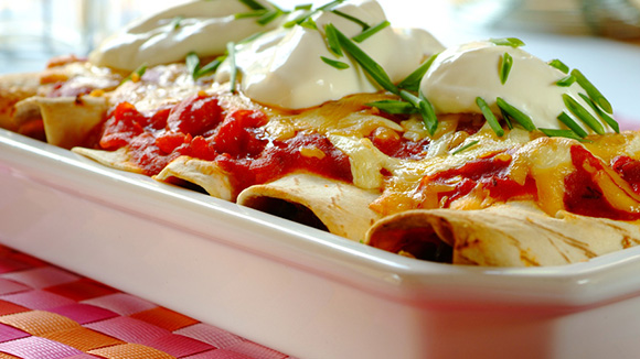 Unbelievable Chicken and Mushroom Enchiladas