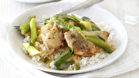 Chicken with Spring Onions and Mustard