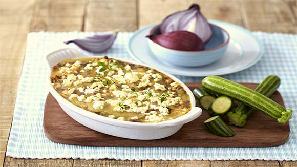 Chicken and Lentil Lasagne with Baby Marrows