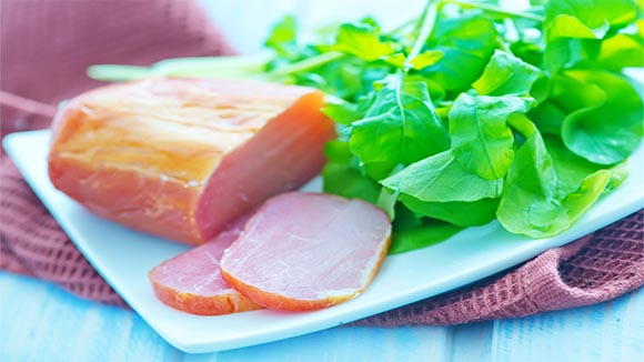 Honey and Mustard Gammon Salad