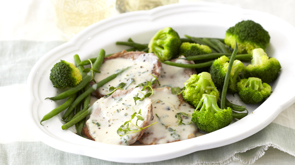 Minute Steaks with Creamy Mushroom Sauce