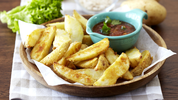 Potato Wedges with a Sweet Chilli Dip